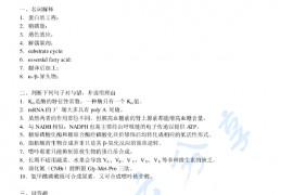 2007年南昌大学生物化学考研真题