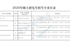 2020年西安电子科技大学微电子学院考研复试笔试科目大纲