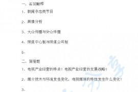 2014年华南师范大学810传播业务考研真题