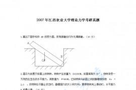 2007年江西农业大学理论力学考研真题