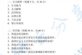 2003年中国人民公安大学法理学考研真题