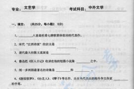 2004年深圳大学中外文学考研真题