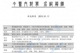 中医内科考博真题名解.pdf