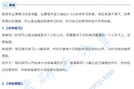 王江涛:冲刺期各科的复习方法
