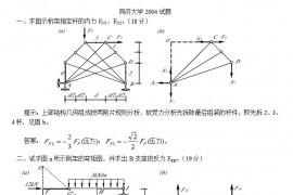 2004-2003年同济大学土木结构力学考研真题