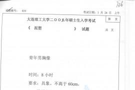 2005年大连理工大学835泥塑考研真题