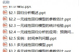 清华大学计量经济学课件.zip