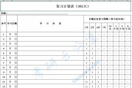 艾宾浩斯遗忘曲线复习计划表(年计划).xls