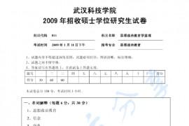 2009年武汉科技学院811思想政治教育原理考研真题