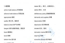 考研英语阅读分类词汇