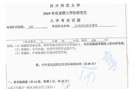 2019年四川师范大学445汉语国际教育基础考研真题