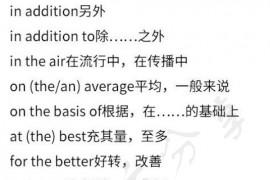 考研英语完形填空固定搭配必备