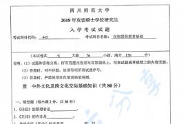 2018年四川师范大学445汉语国际教育基础考研真题