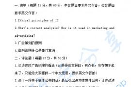 2010年上海外国语大学传播学实务考研真题