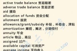 考研英语中160个常见经济类词汇
